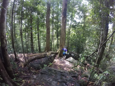 Hiking down from Moulawela rock